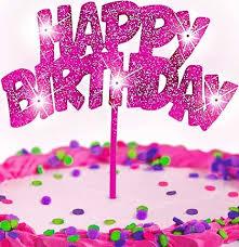 happy birthday cake topper pink glitter happy birthday cake topper party supplies