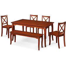 better homes and gardens ashwood road 6 piece dining set brown