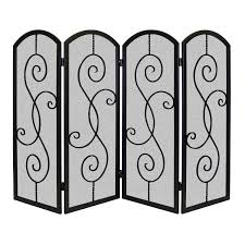 wrought iron room divider decorating fascinating fireplace with single panel fireplace