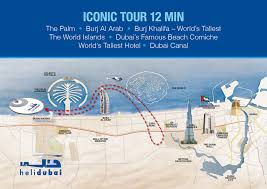 Emirates Route Map by Iconic Helicopter Tour 12 Minutes Sharing Dubai Tickets Headout