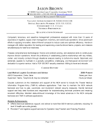 Example Of Federal Government Resume by Logistics Controller Cover Letter