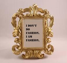 custom framed quote coco chanel fashion quote i am fashion