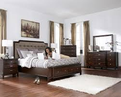 Brown Bedroom Furniture Larimer Upholstered Headboard Bedroom Set With Button Tufting In