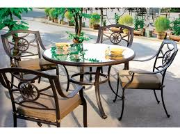 48 Round Patio Table by Darlee Outdoor Living Glass Top Cast Aluminum Antique Bronze 48