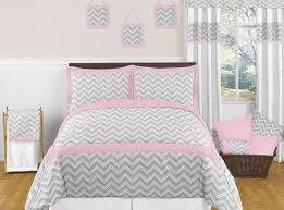 bedding set outstanding light pink and grey chevron baby bedding