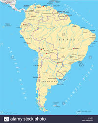 south america map atlas america brazil south america continent states map
