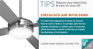 energy saving tips for summer coserv energy savings tip use fans