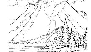 free printable coloring pages for adults landscapes mountain coloring page road in mountain coloring page free printable