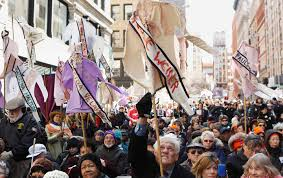 striking on international women u0027s day is not a privilege the nation