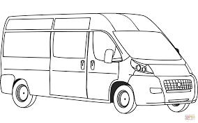 van coloring page free printable coloring pages