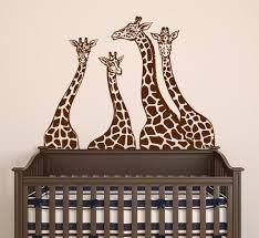 giraffe wall decals giraffe family wall stickers animal