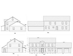 modern house plan section elevation townhouse hahnow