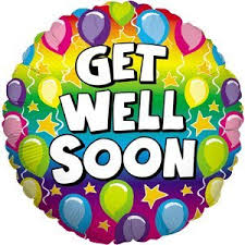 get well soon and balloons get well soon rainbow balloons balloon delivered inflated in a box