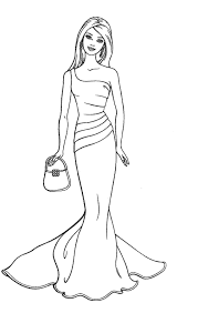 barbie doll sketches colouring barbie fashion coloring 01