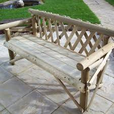 2 seat softwood rustic garden bench