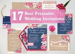 diy wedding invitations templates 17 of the best printable wedding invitations