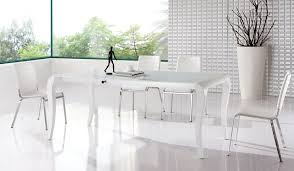 Glamorous White Modern Dining Room Sets Breathtaking Contemporary - White modern dining room sets