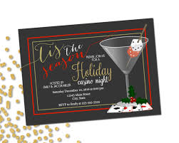 holiday party invitation casino holiday party casino night