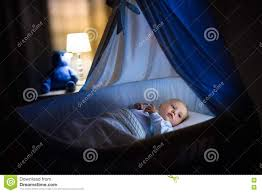 Free Baby Canopy by Baby Boy Sleeping At Night Stock Photo Image 77151848