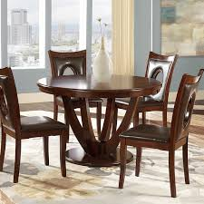 Two Tone Pedestal Dining Table Miraval Cherry Brown Round Dining Table By Inspire Q Classic