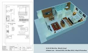 d work freelancers 3d model a 2d floor plan design by using