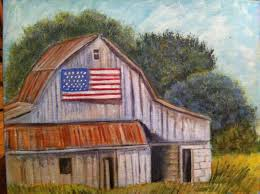 wall decor canvas painting americana decor barn painting primitive country decor canvas painting of rustic farm americana barn country by countrypaintingsbybl on etsy