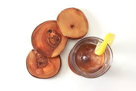 wooden drink coaster olive wood coasters nh bowl and board new hampshire bowl and board