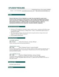 sample college student resume with no work experience sample resume for college students with no job experience