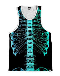 x ray skeleton men u0027s halloween costume tank top into the am