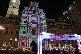 philadelphia light show 2017 deck the hall at city hall holiday sights plus show times philly