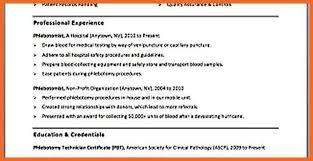 phlebotomy sample resume phlebotomy resume objective resume cover