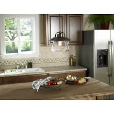 kitchen ceiling pendant lights allen roth bristow 12 in w mission bronze pendant light with