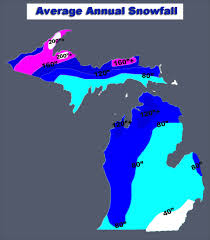 Map Of Upper Michigan by Michigan Snow Coverage Map Michigan Map