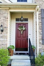 House Door by Front Door Colors Red Brick Home Front Entry Before U0026 After