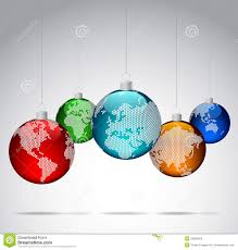 world christmas christmas balls with world dotted maps stock photos image 35285923