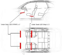 car interior led lighting multicolor 8 steps with pictures