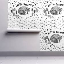 Cute Black And White Wallpapers by Little Dreamer Baby Blanket Cute Black And White Sleeping Fox