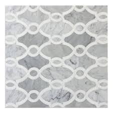 italian carrera white marble white thassos marble waterjet mosaic