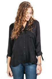 black button blouse dreamgaze blouse relaxed professional collared cuffed button