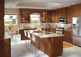 kitchen cabinet design from homecrest cabinetry includes an eat in