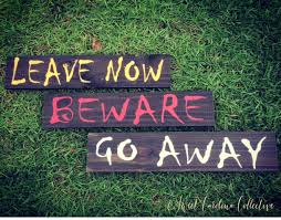 beware go away leave now halloween signs hd 14