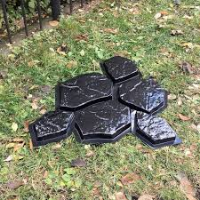 6 batu bata 1 piece cetakan plastik untuk taman stepping stone