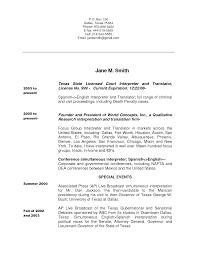bunch ideas of spanish interpreter resume sample in summary