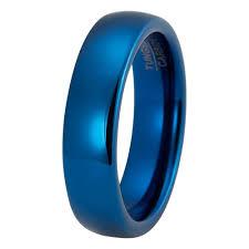 blue wedding rings mens blue wedding band tungsten wedding rings tungstenweddingbands