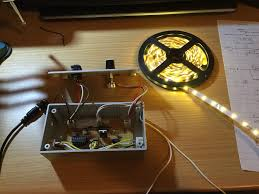 led strip control with dimmer and audio pulsing circuits 10 steps