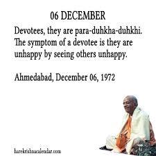 srila prabhupada s quotes for 06 december hare krishna calendar