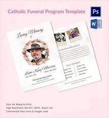 Funeral Program Designs Sample Catholic Funeral Program 12 Documents In Pdf Psd Word