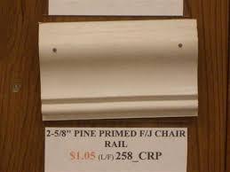 Pine Chair Rail - 2 5 8 pine chair rail finger jointed primed wm 390