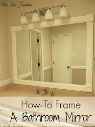 bathroom cabinet simple framing bathroom mirror good home design