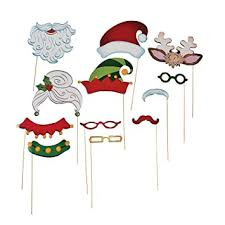 christmas photo booth props christmas santa stick costume photo booth props